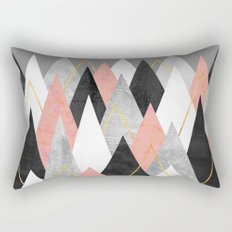 Rose Peaks Rectangular Pillow
