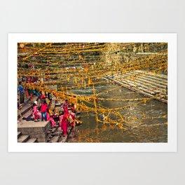 puja in kathmandu Art Print