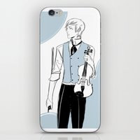 violin iPhone & iPod Skins featuring Violin by Cassandra Jean