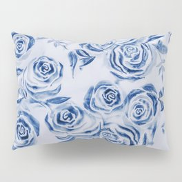 Blue Rose Floral Pattern - Most liked blues Pillow Sham