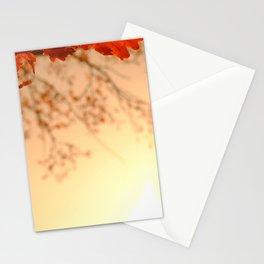 Oak Leaves Sunset Stationery Cards