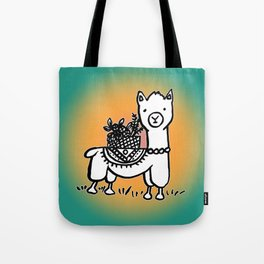 Hand  drawn llamas Tote Bag