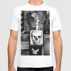Crow And Lace Mens Fitted Tee MEDIUM White