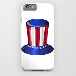Uncle Sam Flag Hat iPhone Case