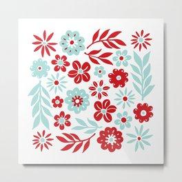 Camp Flowers Metal Print
