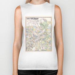 Vintage Map of Los Angeles CA (1884) Biker Tank
