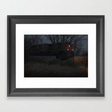night hauling towards Chicago Framed Art Print