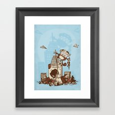 Laundry Monkie Framed Art Print