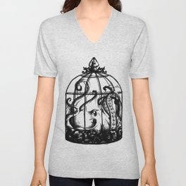 Cage the Cephalopod Unisex V-Neck