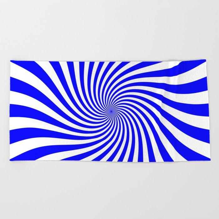 Swirl (Blue/White) Beach Towel