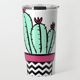 Solitary cactus Travel Mug