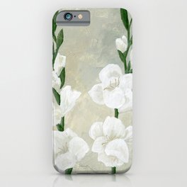 White Gladiolus iPhone Case