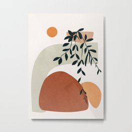 Soft Shapes I Metal Print