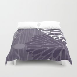 Abstract Floral in Purple by Friztin Duvet Cover
