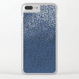 Cloud of birds Dark blue sky Clear iPhone Case