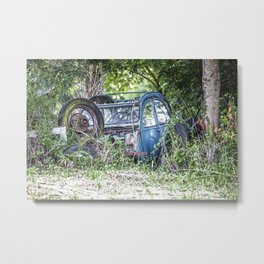 Lost car in France - Parked for eternity Metal Print