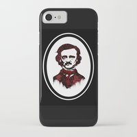 poe iPhone & iPod Cases featuring Poe by Brit Austin Illustration