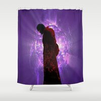 starlord Shower Curtains featuring Lord Of A Galaxy by Kramcox