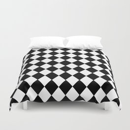 HARLEQUIN BLACK AND WHITE PATTERN #2 Duvet Cover