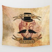 gentleman Wall Tapestries featuring You Are My Gentleman by Diogo Verissimo