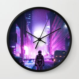 Lost in New York City Wall Clock