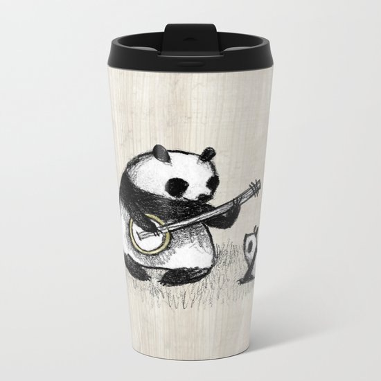 Banjo Panda Metal Travel Mug