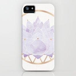 Lavender Lotus Blossom iPhone Case