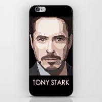 tony stark iPhone & iPod Skins featuring Tony Stark by Lany Nguyen