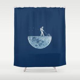 Space walk Shower Curtain