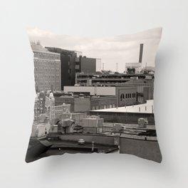 Ann Arbor City Roofs Throw Pillow
