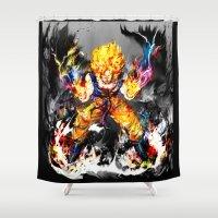 goku Shower Curtains featuring Goku by ururuty