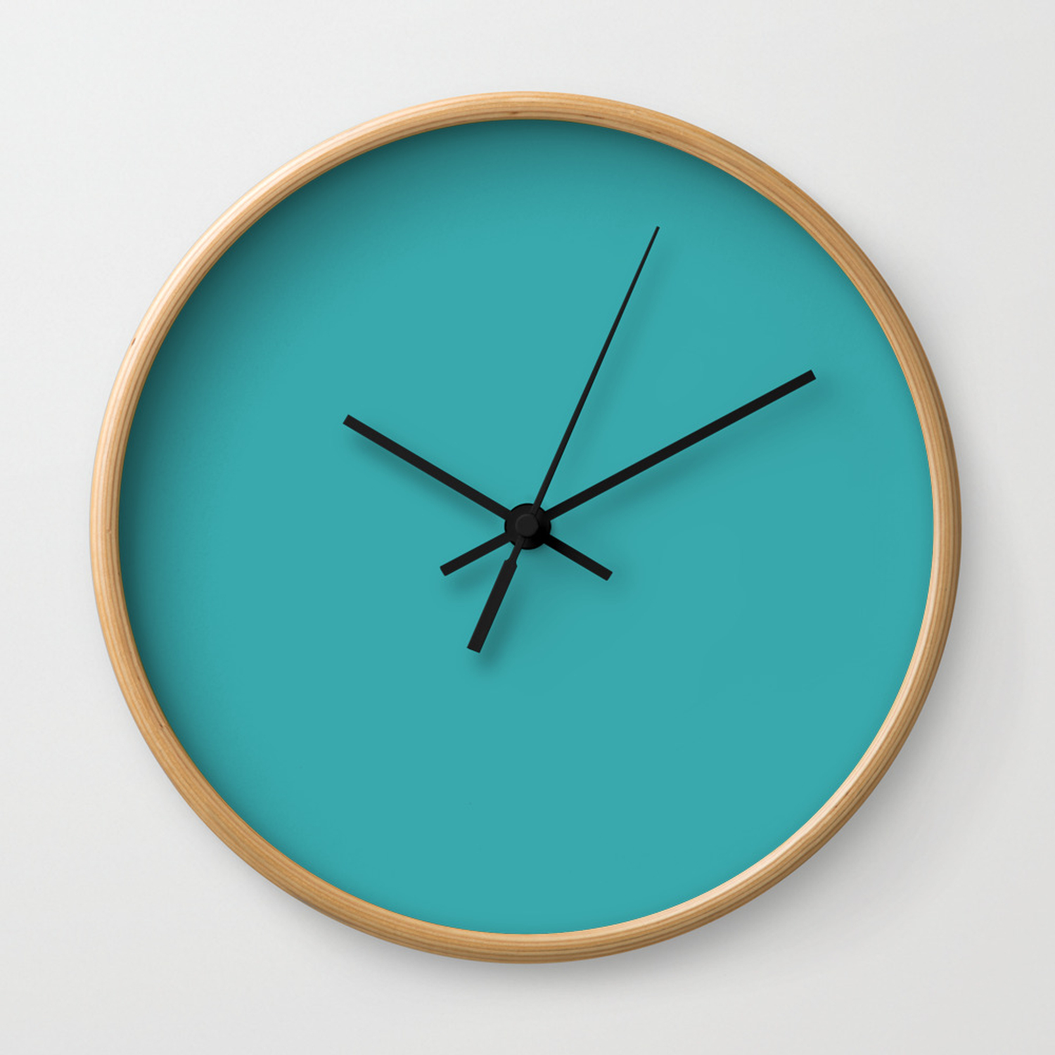 Aqua Teal Turquoise Solid Color Pairs With Sherwin Williams 2020 Trending Aquarium Sw6767 Wall Clock