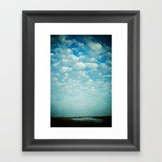 Where Sea and Sky Meet Framed Art Print
