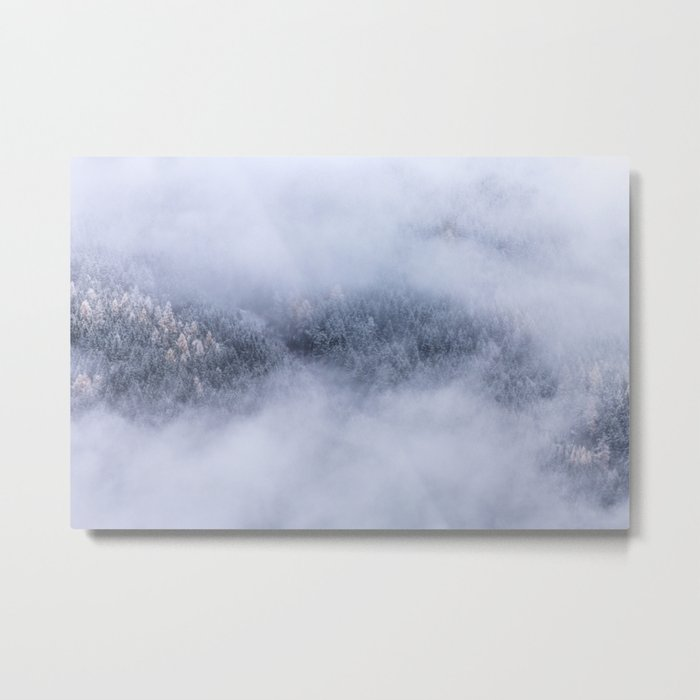 Beneath The Fog Metal Print