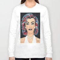 marilyn Long Sleeve T-shirts featuring Marilyn by Sartoris ART