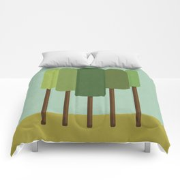 Green Summer Forest Comforters
