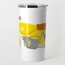 Yellow motorbike illustration Travel Mug