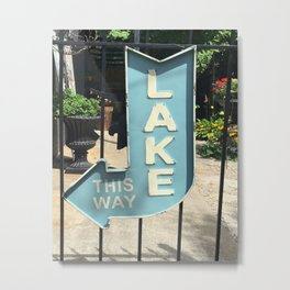 Lake Sign Metal Print