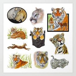 Big Cat Sticker Pack 1 Art Print