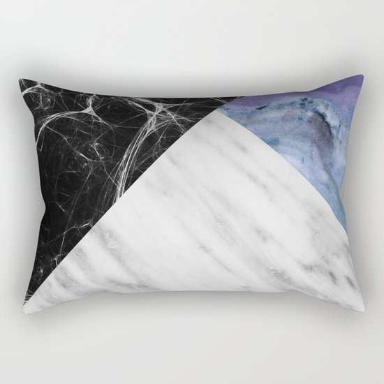 Marble Collage with Blue Rectangular Pillow