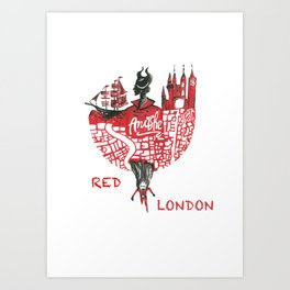 Red London Art Print