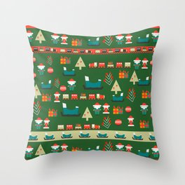 Santa's Christmas laboratory Throw Pillow