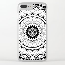 Black-and-white kaleidoscope . Clear iPhone Case