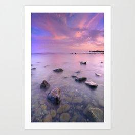 """Pink Sunset. Mediterranean sea."" Art Print"