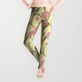 Lily floral pattern Leggings