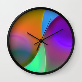 green lines -1- colorvariation Wall Clock