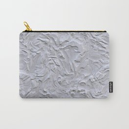 White Rough Plastering Texture Carry-All Pouch