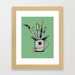 Ink cup Framed Art Print