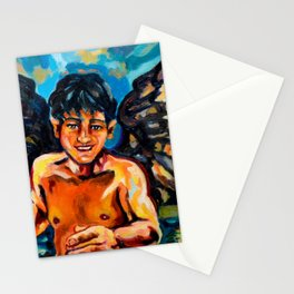 Running angel Stationery Cards