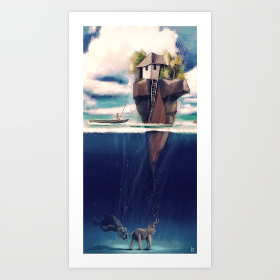 Dream Island Art Print